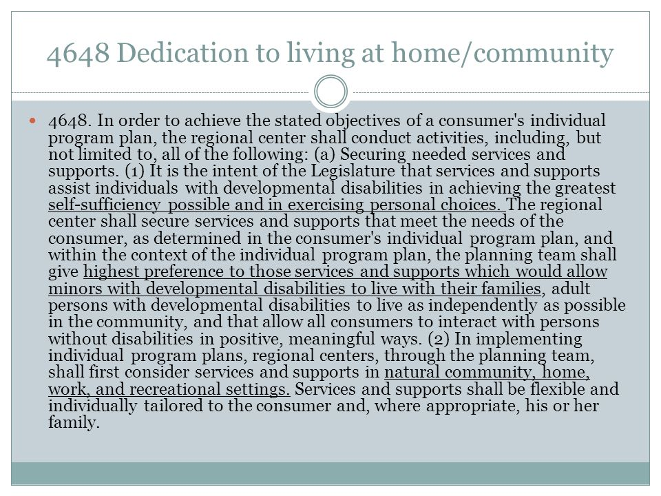 4648 Dedication to living at home/community