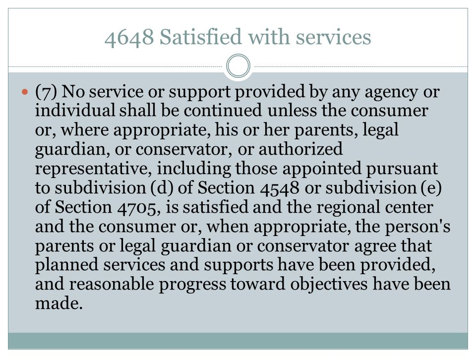 4648 Satisfied with services