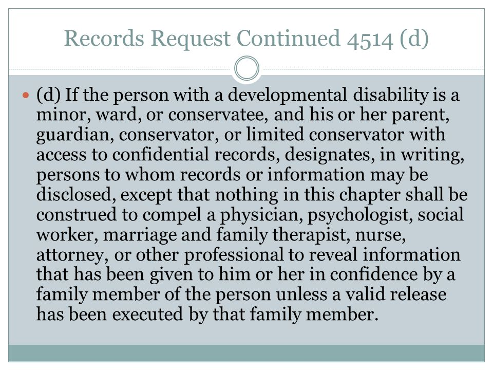 Records Request Continued 4514 (d)