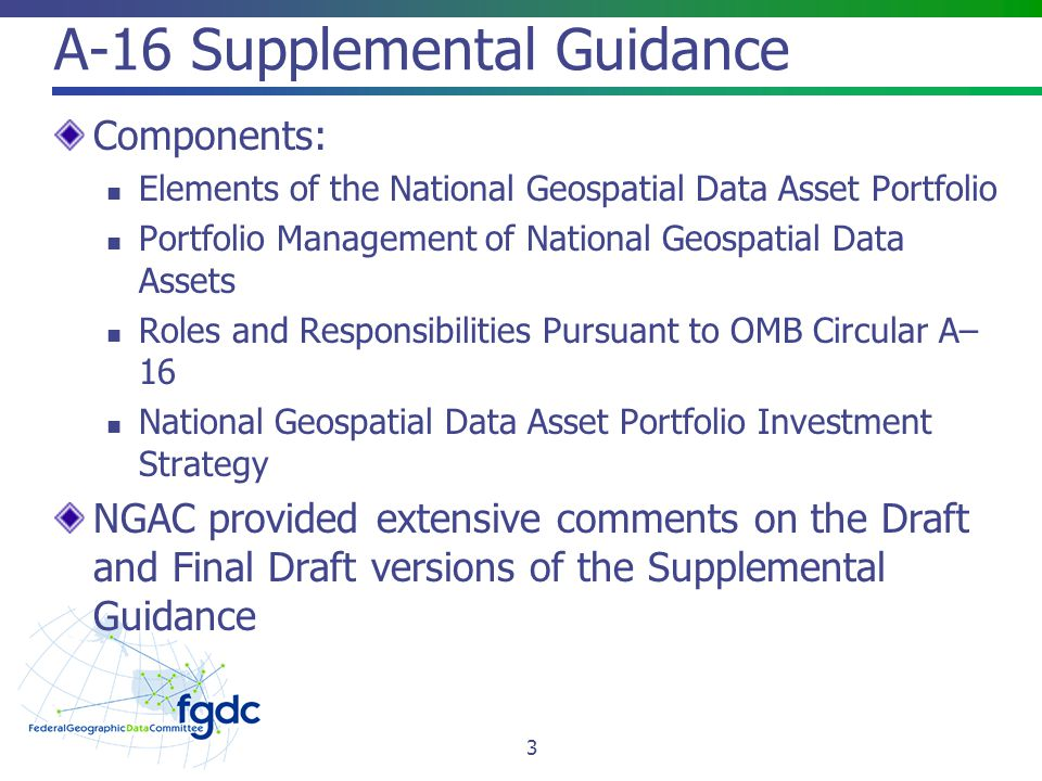 A-16 Supplemental Guidance