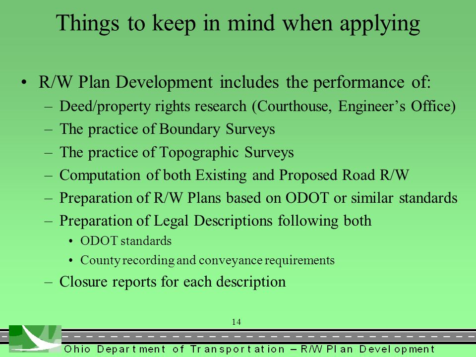 Things to keep in mind when applying
