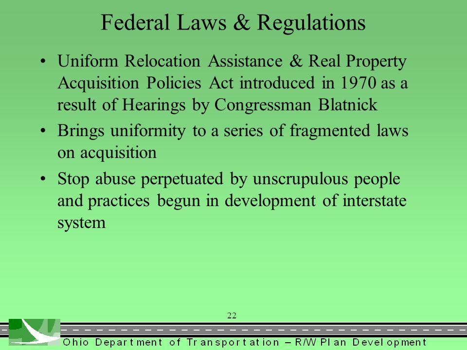 Federal Laws & Regulations