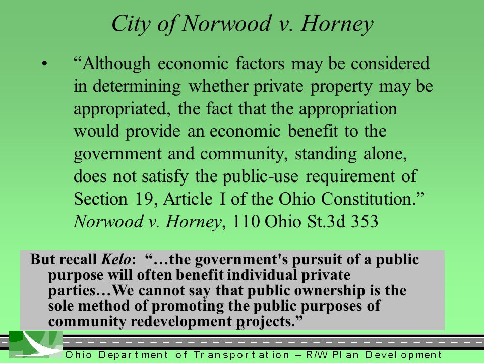City of Norwood v. Horney