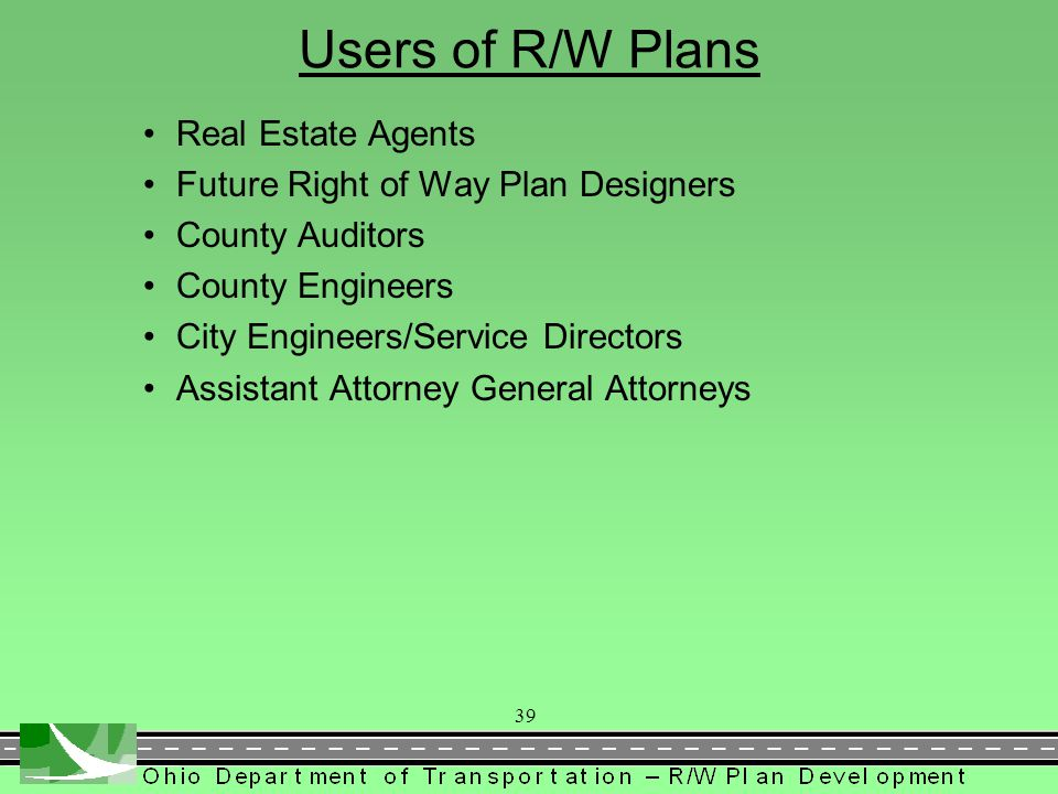 Users of R/W Plans Real Estate Agents