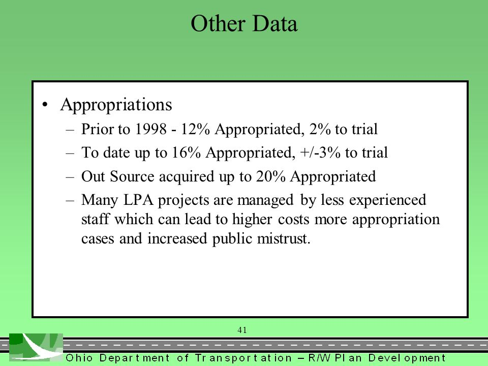 Other Data Appropriations