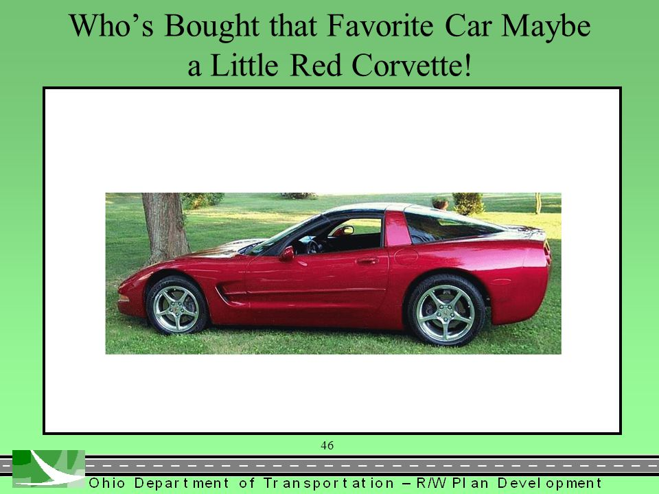 Who's Bought that Favorite Car Maybe a Little Red Corvette!