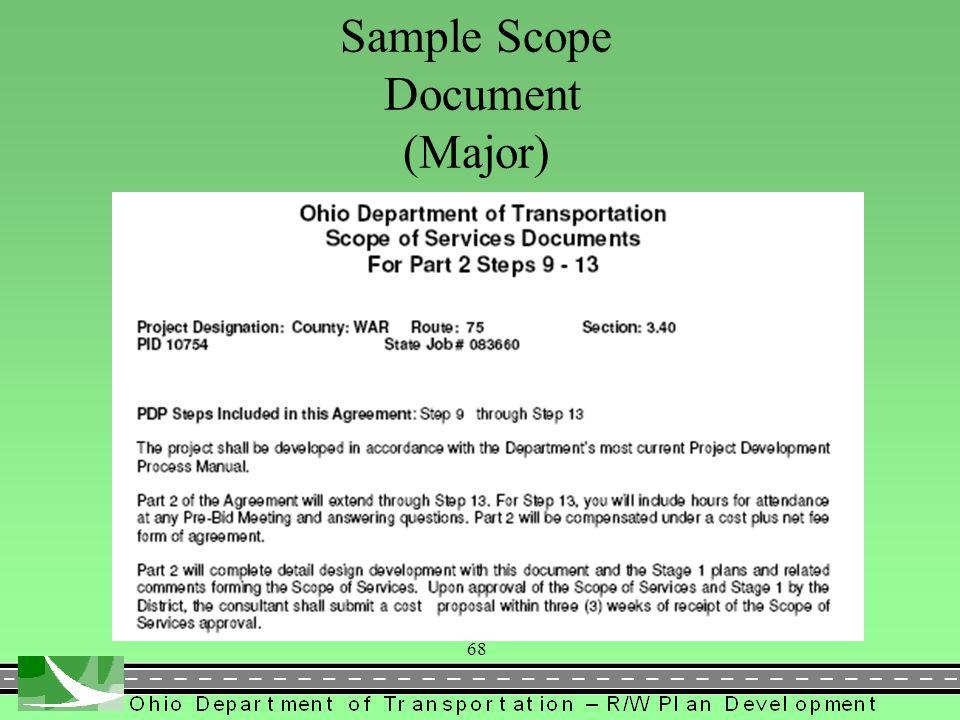 Sample Scope Document (Major)