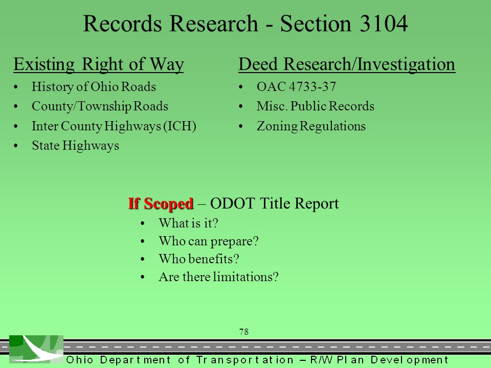 Records Research - Section 3104
