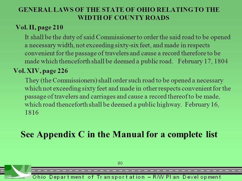 See Appendix C in the Manual for a complete list