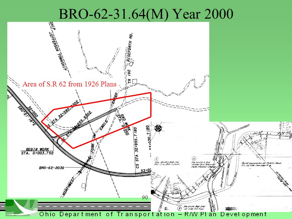 BRO-62-31.64(M) Year 2000 Area of S.R 62 from 1926 Plans