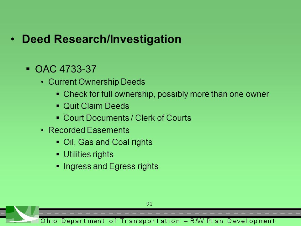 Deed Research/Investigation
