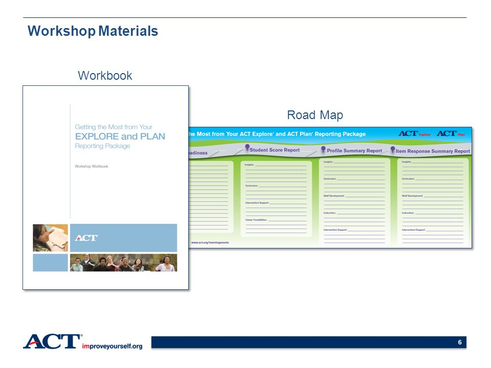 Workshop Materials Workbook Road Map