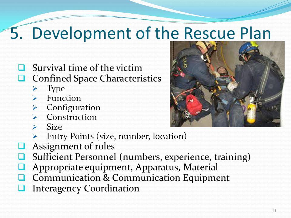 5. Development of the Rescue Plan