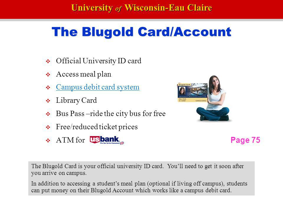 The Blugold Card/Account