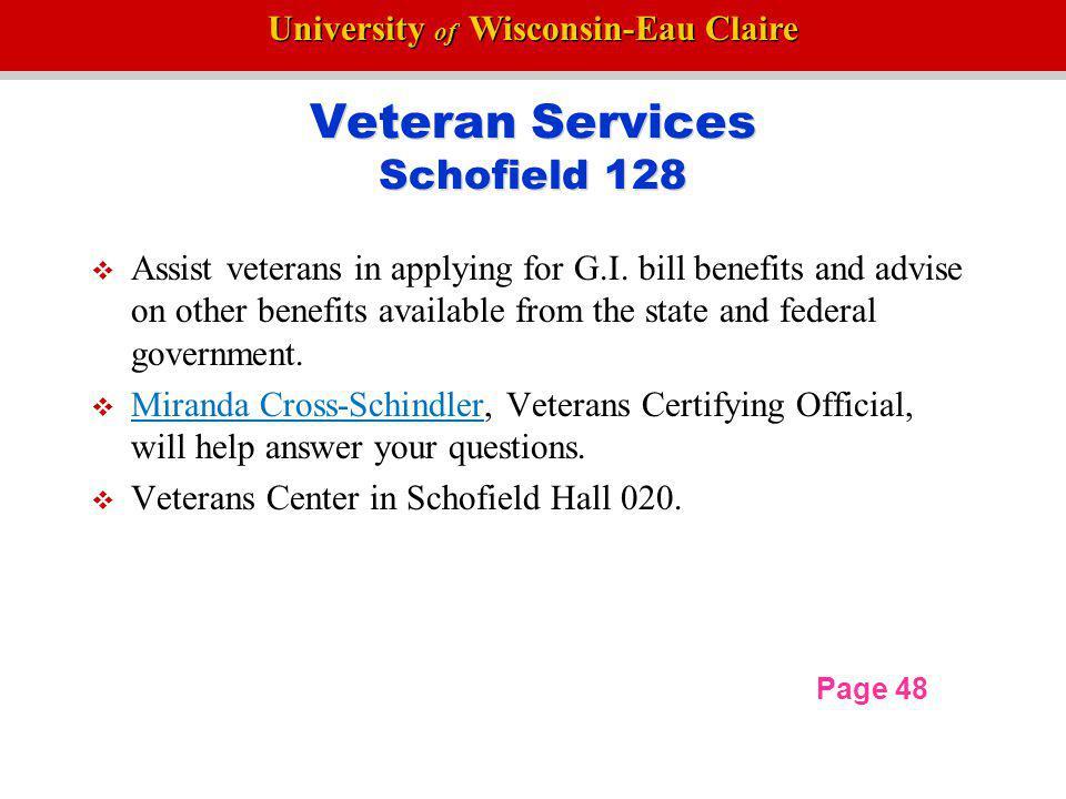 Veteran Services Schofield 128