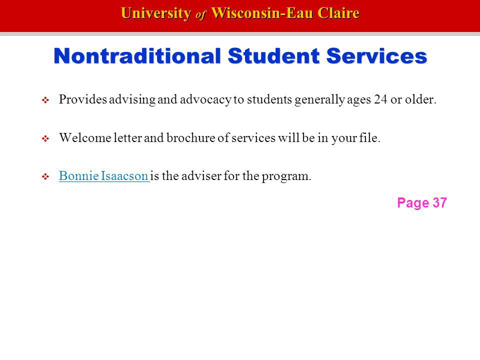 Nontraditional Student Services