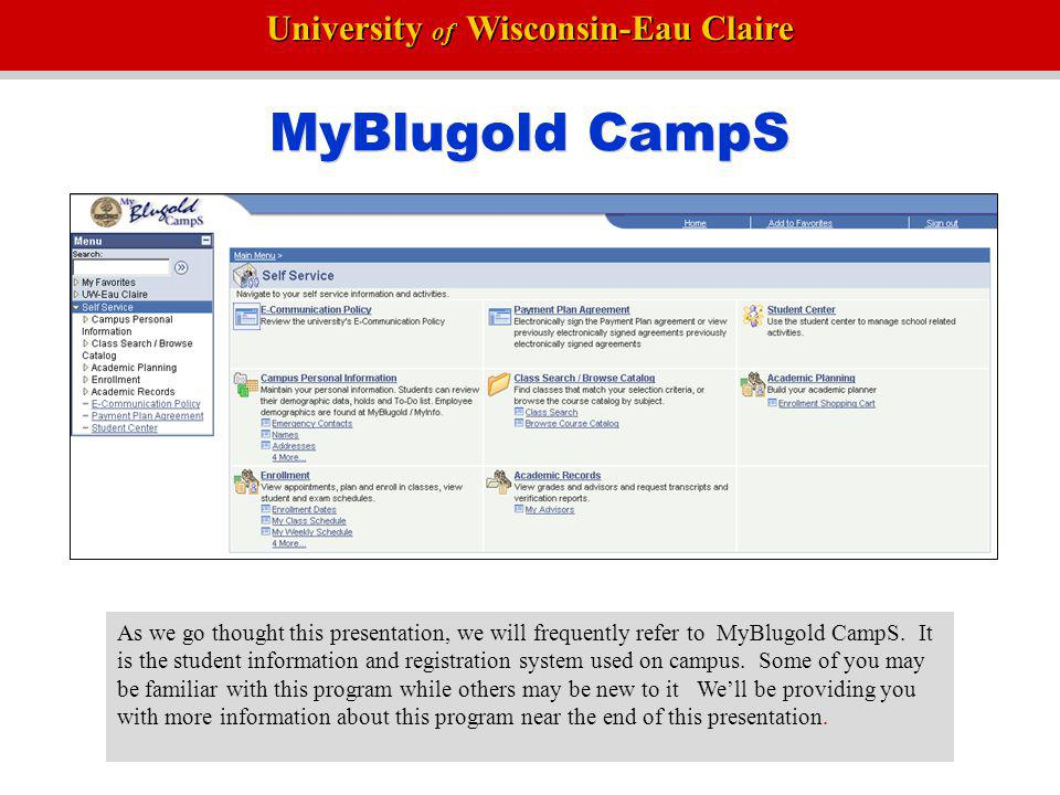 MyBlugold CampS • Topics not covered • Table of contents-Yellow