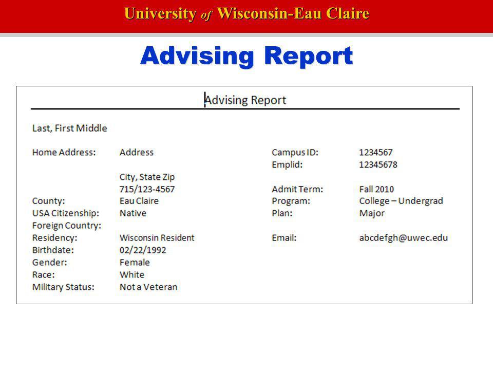 Advising Report