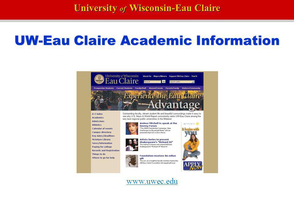 UW-Eau Claire Academic Information