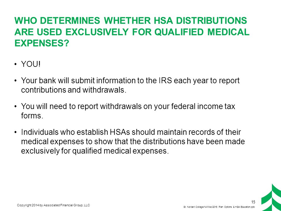 HSA Withdrawals/Distributions