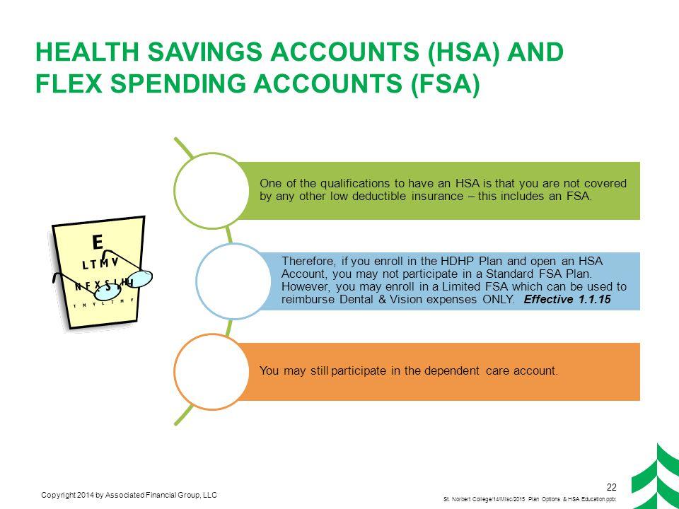 Flexible Spending Account (FSA) Update New Plan Administrator 9.1.2014