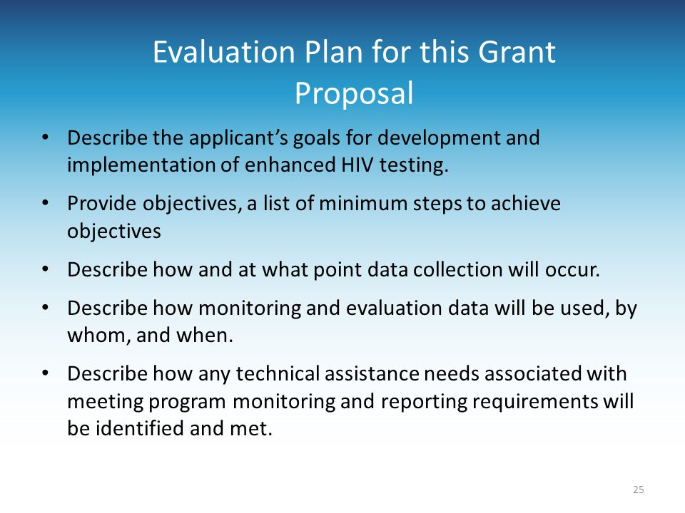 Evaluation Plan for this Grant Proposal