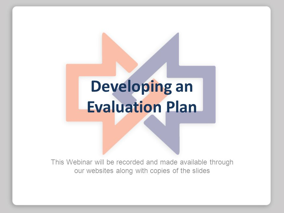 Developing an Evaluation Plan