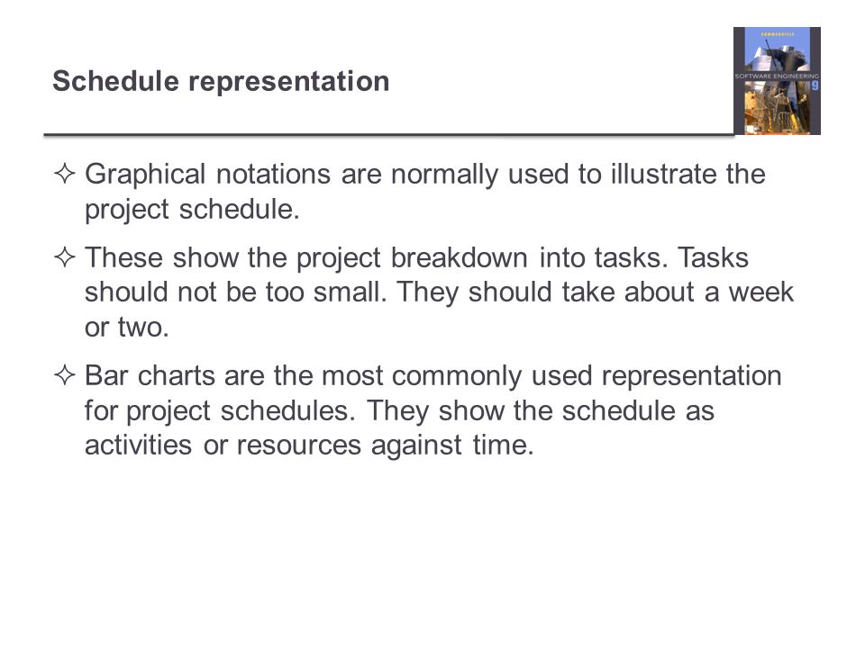 Schedule representation