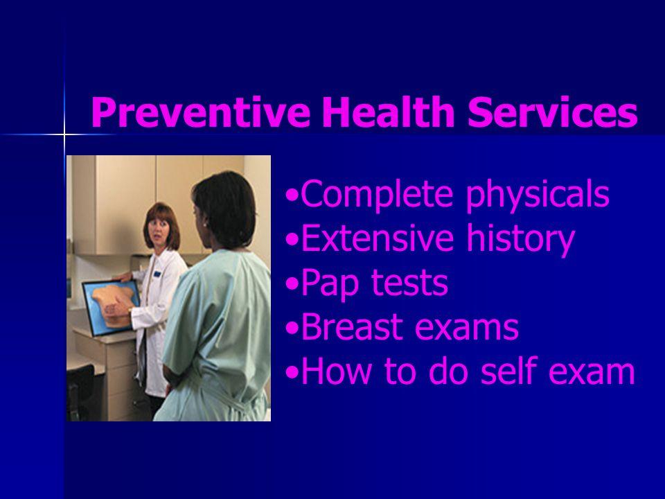Preventive Health Services