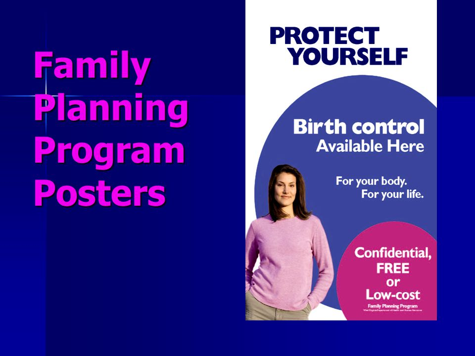Family Planning Program Posters