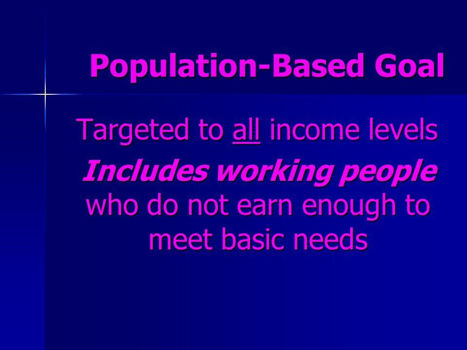 Population-Based Goal