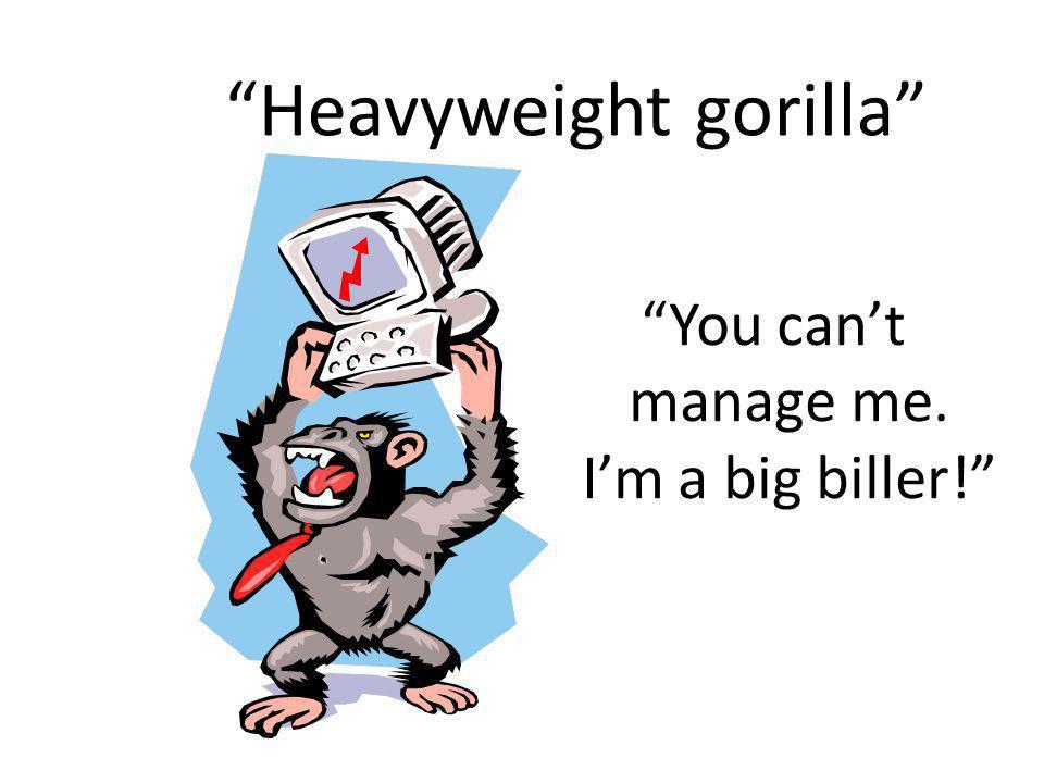Heavyweight gorilla