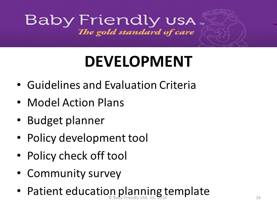 © Baby-Friendly USA, Inc. 2010