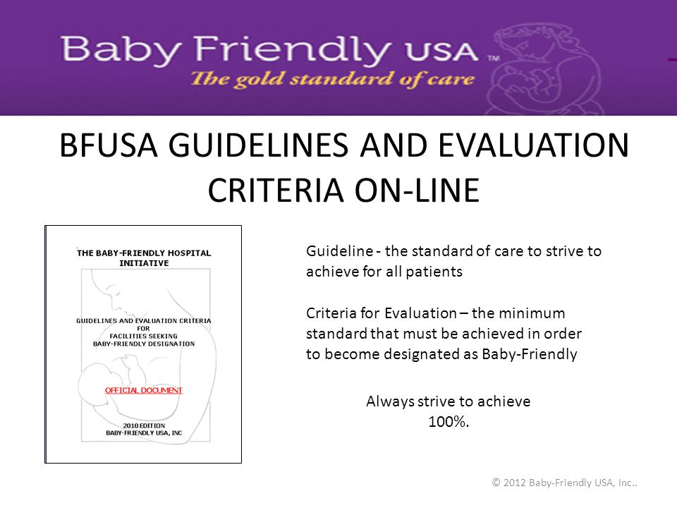 BFUSA GUIDELINES AND EVALUATION CRITERIA ON-LINE