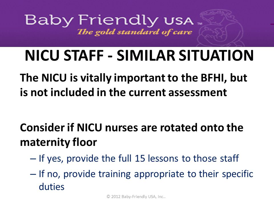NICU STAFF - SIMILAR SITUATION