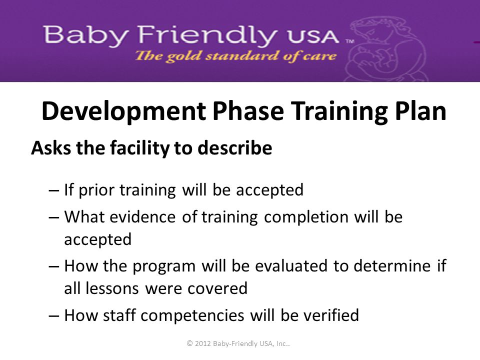 Development Phase Training Plan