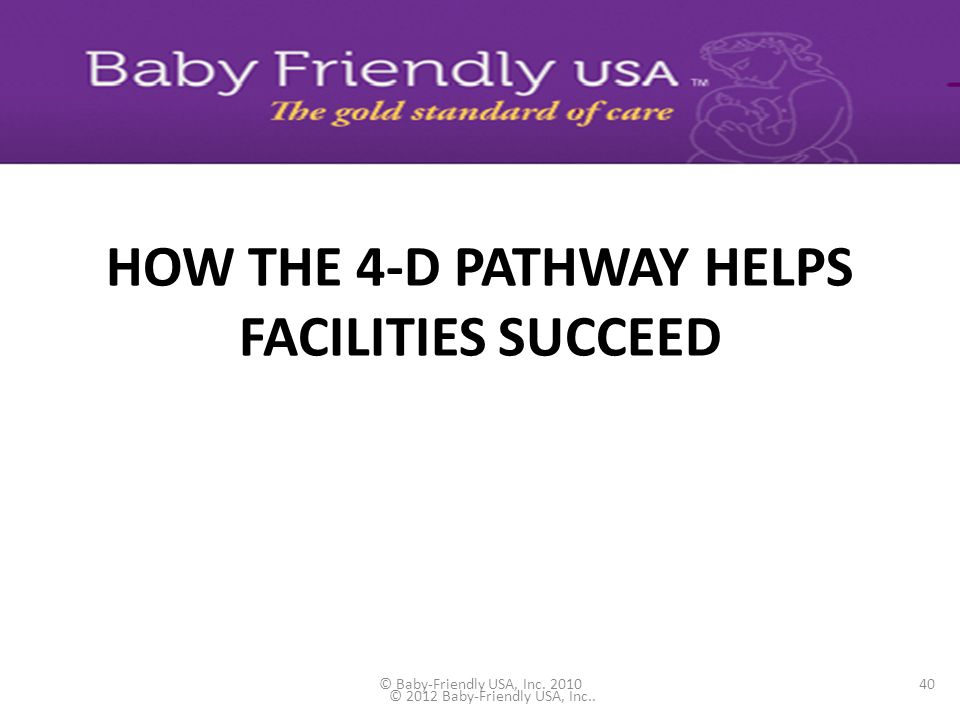 HOW THE 4-D PATHWAY HELPS FACILITIES SUCCEED