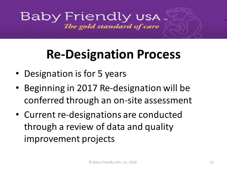 Re-Designation Process