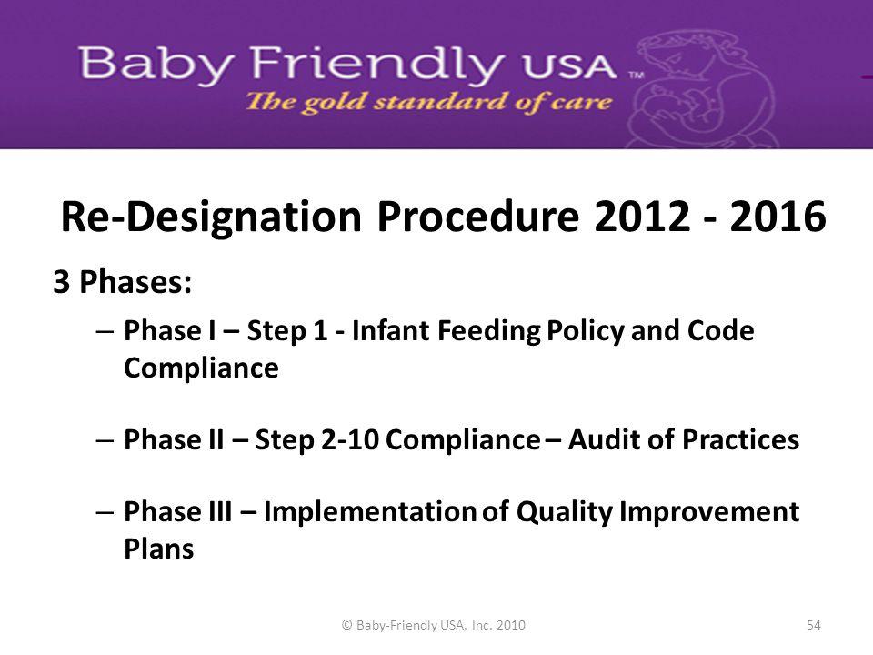 Re-Designation Procedure 2012 - 2016