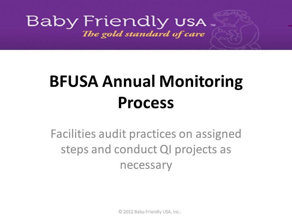 BFUSA Annual Monitoring Process