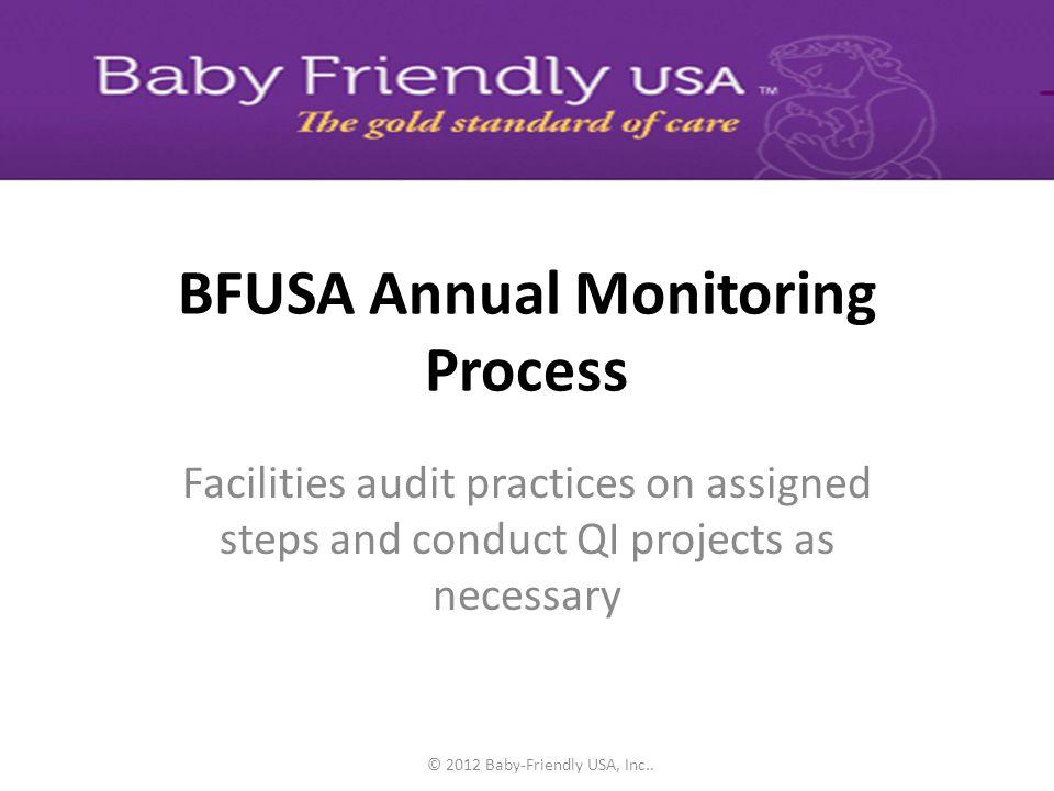 BFUSA Annual Monitoring Process