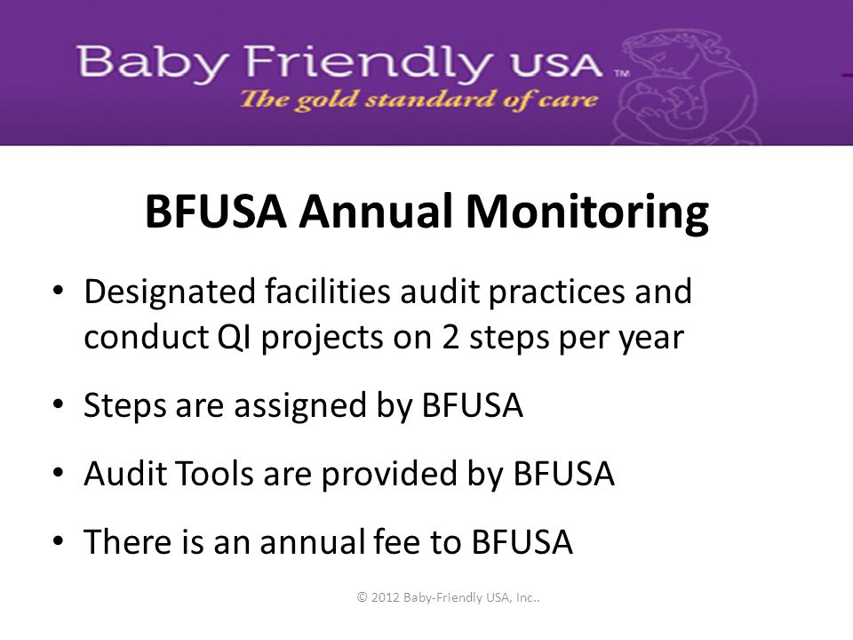 BFUSA Annual Monitoring