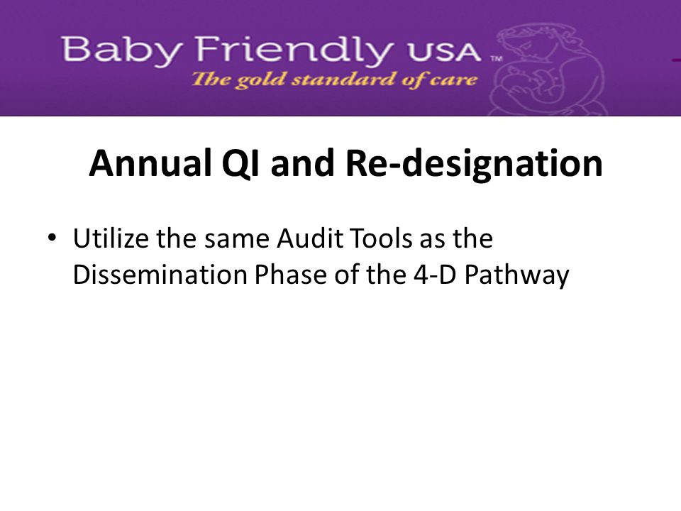 Annual QI and Re-designation