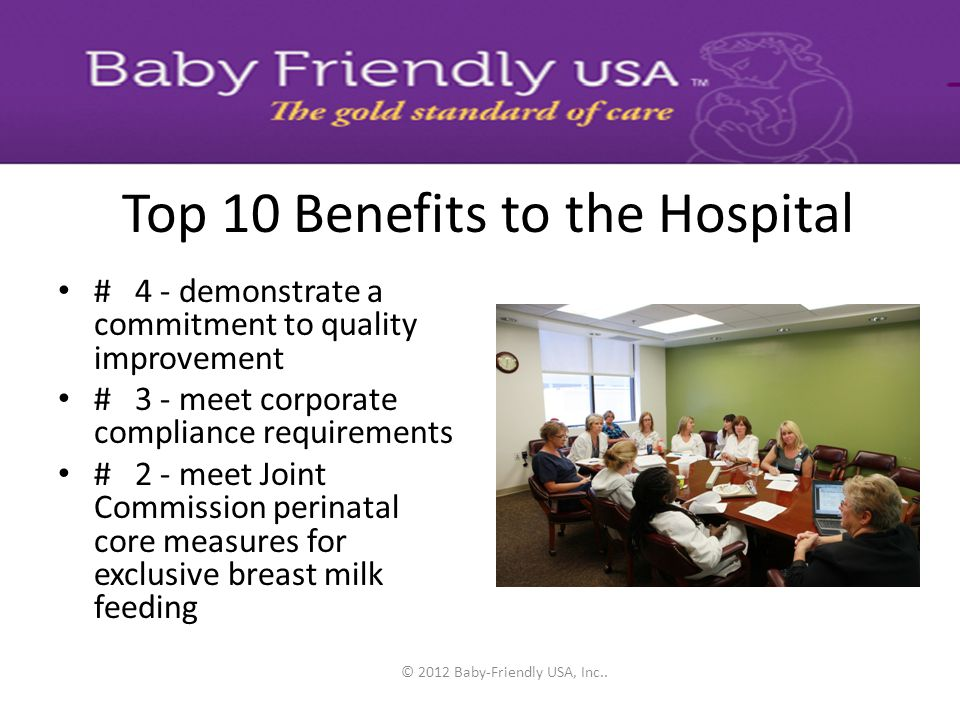 Top 10 Benefits to the Hospital