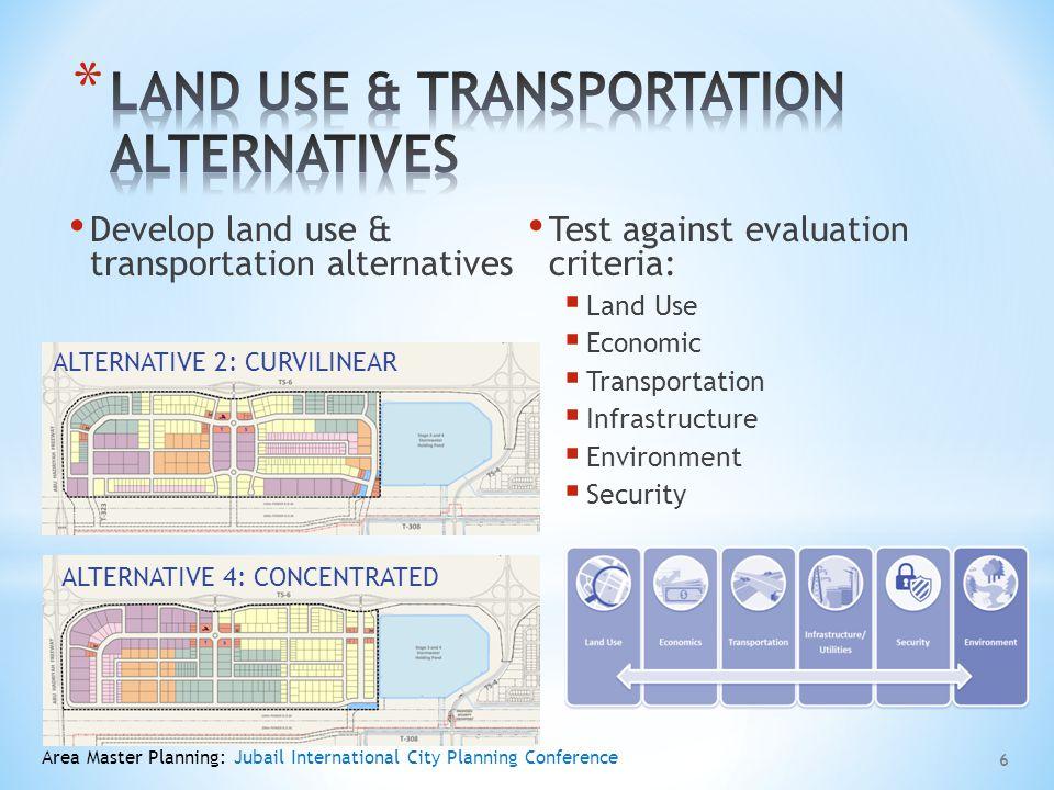 LAND USE & TRANSPORTATION ALTERNATIVES