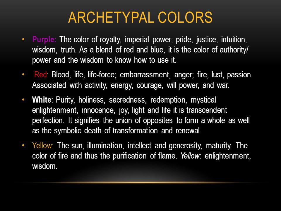 Archetypal Colors