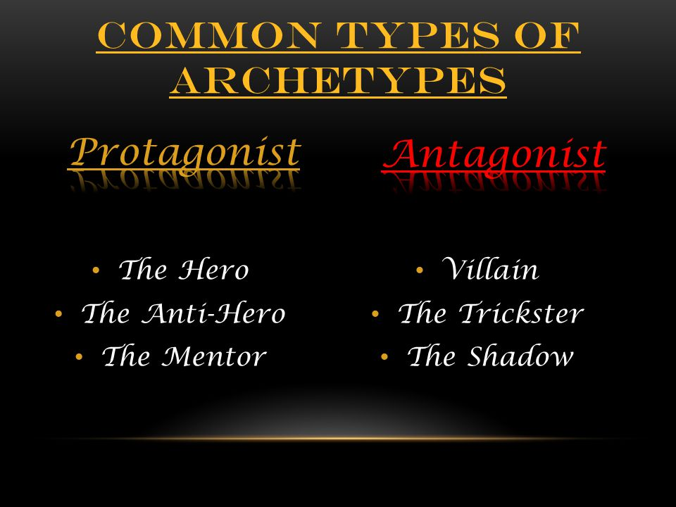 Common types of archetypes