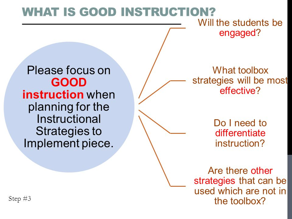 What is Good Instruction