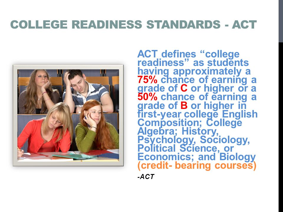 College Readiness Standards - ACT