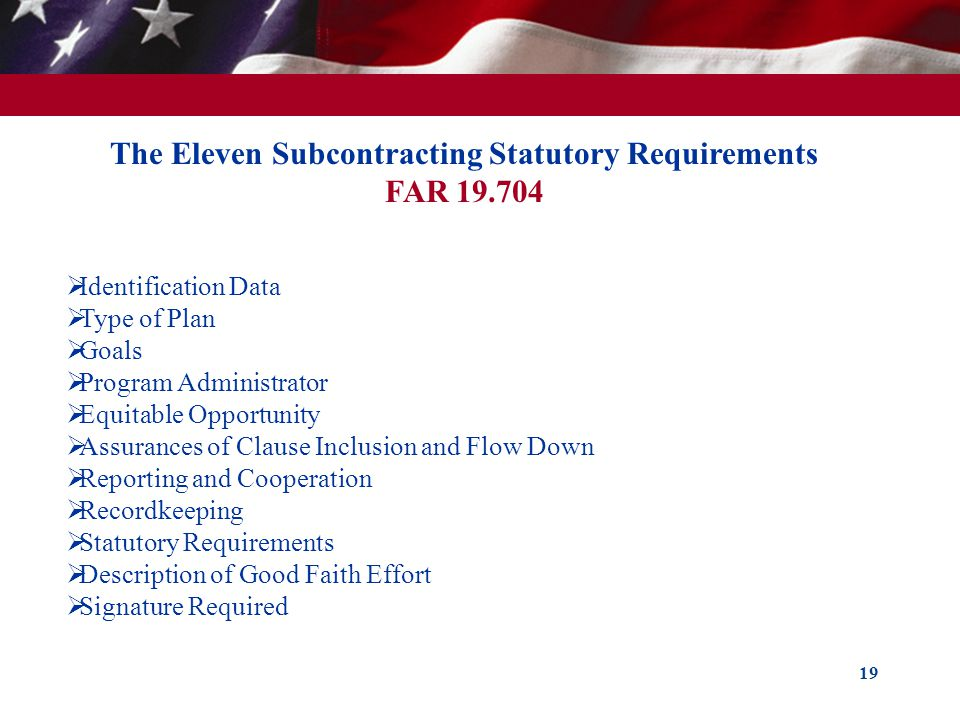 The Eleven Subcontracting Statutory Requirements